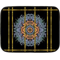 Blue Bloom Golden And Metal Fleece Blanket (mini)