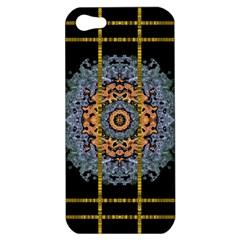 Blue Bloom Golden And Metal Apple Iphone 5 Hardshell Case