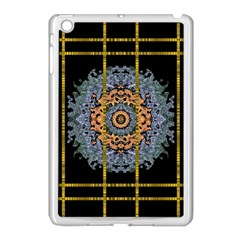 Blue Bloom Golden And Metal Apple Ipad Mini Case (white)
