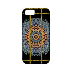 Blue Bloom Golden And Metal Apple Iphone 5 Classic Hardshell Case (pc+silicone)