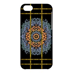 Blue Bloom Golden And Metal Apple Iphone 5c Hardshell Case