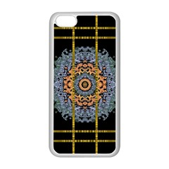 Blue Bloom Golden And Metal Apple Iphone 5c Seamless Case (white)