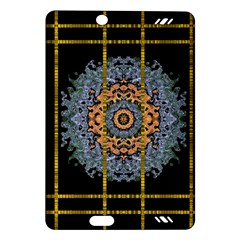 Blue Bloom Golden And Metal Amazon Kindle Fire Hd (2013) Hardshell Case