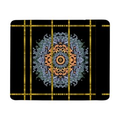 Blue Bloom Golden And Metal Samsung Galaxy Tab Pro 8 4  Flip Case
