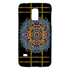 Blue Bloom Golden And Metal Galaxy S5 Mini