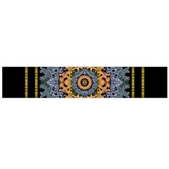 Blue Bloom Golden And Metal Flano Scarf (large)