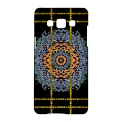 Blue Bloom Golden And Metal Samsung Galaxy A5 Hardshell Case