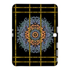 Blue Bloom Golden And Metal Samsung Galaxy Tab 4 (10 1 ) Hardshell Case