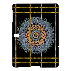 Blue Bloom Golden And Metal Samsung Galaxy Tab S (10 5 ) Hardshell Case