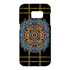 Blue Bloom Golden And Metal Samsung Galaxy S7 Hardshell Case