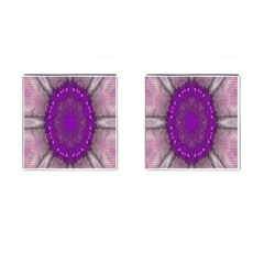 Fantasy Flowers In Harmony  In Lilac Cufflinks (square)