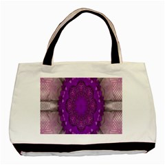 Fantasy Flowers In Harmony  In Lilac Basic Tote Bag