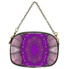 Fantasy Flowers In Harmony  In Lilac Chain Purses (one Side)