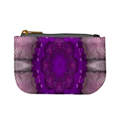 Fantasy Flowers In Harmony  In Lilac Mini Coin Purses