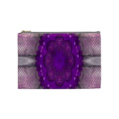Fantasy Flowers In Harmony  In Lilac Cosmetic Bag (medium)