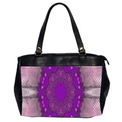 Fantasy Flowers In Harmony  In Lilac Office Handbags (2 Sides)
