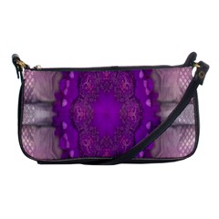 Fantasy Flowers In Harmony  In Lilac Shoulder Clutch Bags