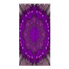 Fantasy Flowers In Harmony  In Lilac Shower Curtain 36  X 72  (stall)