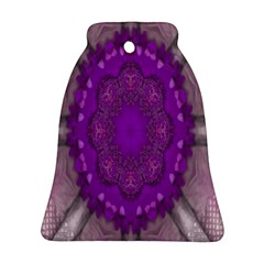 Fantasy Flowers In Harmony  In Lilac Ornament (bell)