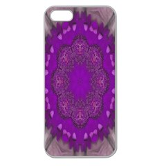 Fantasy Flowers In Harmony  In Lilac Apple Seamless Iphone 5 Case (clear)
