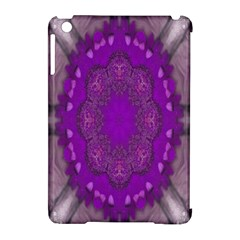 Fantasy Flowers In Harmony  In Lilac Apple Ipad Mini Hardshell Case (compatible With Smart Cover)