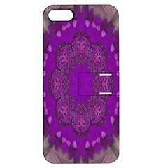 Fantasy Flowers In Harmony  In Lilac Apple Iphone 5 Hardshell Case With Stand
