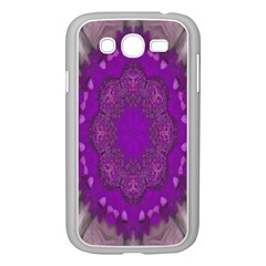 Fantasy Flowers In Harmony  In Lilac Samsung Galaxy Grand Duos I9082 Case (white)