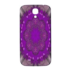 Fantasy Flowers In Harmony  In Lilac Samsung Galaxy S4 I9500/i9505  Hardshell Back Case