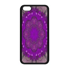 Fantasy Flowers In Harmony  In Lilac Apple Iphone 5c Seamless Case (black)