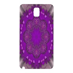 Fantasy Flowers In Harmony  In Lilac Samsung Galaxy Note 3 N9005 Hardshell Back Case