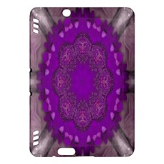Fantasy Flowers In Harmony  In Lilac Kindle Fire Hdx Hardshell Case