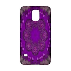 Fantasy Flowers In Harmony  In Lilac Samsung Galaxy S5 Hardshell Case