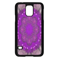 Fantasy Flowers In Harmony  In Lilac Samsung Galaxy S5 Case (black)
