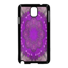 Fantasy Flowers In Harmony  In Lilac Samsung Galaxy Note 3 Neo Hardshell Case (black)