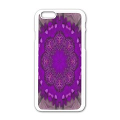 Fantasy Flowers In Harmony  In Lilac Apple Iphone 6/6s White Enamel Case