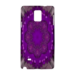 Fantasy Flowers In Harmony  In Lilac Samsung Galaxy Note 4 Hardshell Case