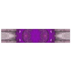 Fantasy Flowers In Harmony  In Lilac Flano Scarf (small)
