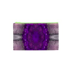 Fantasy Flowers In Harmony  In Lilac Cosmetic Bag (xs)