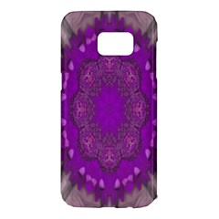 Fantasy Flowers In Harmony  In Lilac Samsung Galaxy S7 Edge Hardshell Case