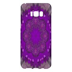 Fantasy Flowers In Harmony  In Lilac Samsung Galaxy S8 Plus Hardshell Case