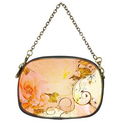 Wonderful Floral Design In Soft Colors Chain Purses (two Sides)