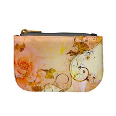 Wonderful Floral Design In Soft Colors Mini Coin Purses