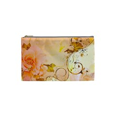 Wonderful Floral Design In Soft Colors Cosmetic Bag (small)