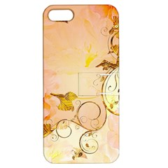 Wonderful Floral Design In Soft Colors Apple Iphone 5 Hardshell Case With Stand