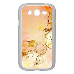 Wonderful Floral Design In Soft Colors Samsung Galaxy Grand Duos I9082 Case (white)