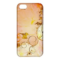 Wonderful Floral Design In Soft Colors Apple Iphone 5c Hardshell Case