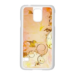 Wonderful Floral Design In Soft Colors Samsung Galaxy S5 Case (white)