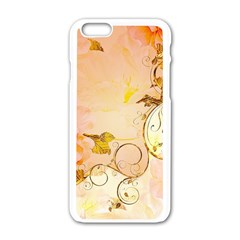 Wonderful Floral Design In Soft Colors Apple Iphone 6/6s White Enamel Case