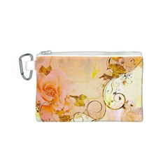 Wonderful Floral Design In Soft Colors Canvas Cosmetic Bag (s)