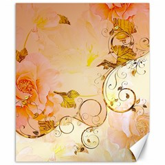 Wonderful Floral Design In Soft Colors Canvas 8  X 10